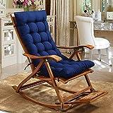 RXF Rechteckiges Sitzkissen Rutschfeste gepolsterte verstellmatte innen und außen schaukelstuhl Kissen Hause Sofa Baumwolle pad-2 größe (Farbe : Blau, größe : 48x125cm)