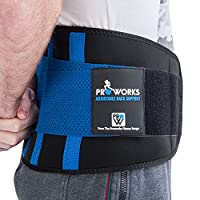 Proworks Lower Back Support Belt | Lumbar Support Brace for Exercise, Sports & Work - Unisex - Extra Large