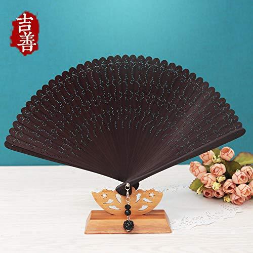 Kaffee Verwandte Kostüm - plzxy Chinesischen Stil voller Bambus Fan Carving Hohlfächer Alten Stil Damen Faltfächer Handwerk Fan Geschenk Fan@Fashion Hollow (Kaffee)