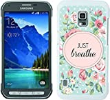 Just Breathe Floral Dots ROSES weiß für Samsung Galaxy S5 Active Handy Fall