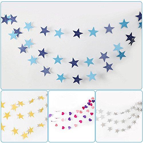 QIAO Pentagram Papier Pull Flag Hochzeit Dekoration Geburtstag Party-Arrangement Blume Sechzehn Aktivität Verkleiden Sich Stern String Flag (10 Sätze)