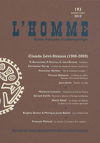 Revue L'Homme numéro 193 Claude Lé...