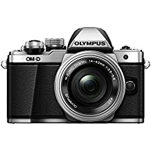 "Olympus E-M10 Mark-II - Cámara EVIL de 16.1 Mp (pantalla 3"", estabilizador óptico, vídeo Full HD, WiFi) - Kit cámara con objetivo 14-42mm EZ Zoom, plata"