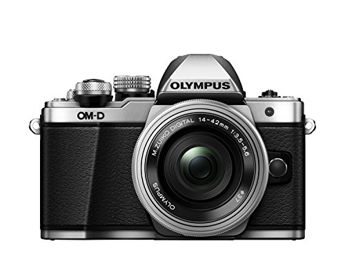 Olympus E-M10 Mark-II - Cámara Evil de 16.1 MP (Pantalla 3', estabilizador óptico, vídeo Full HD, WiFi, Kit cámara con Objetivo 14-42mm EZ Zoom), Plata