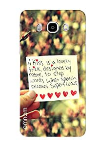 Omnam Truly Love Quote Printed With Background Blurr Effect Designer Back Cover Case For Samsung Galaxy J5 (2016)
