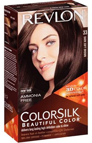 Revlon Colorsilk Permanent Color Dark Soft Brown 33, 1 Count