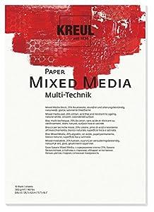 KREUL 69022-Paper Mixed Media, DIN A3, 10Hojas