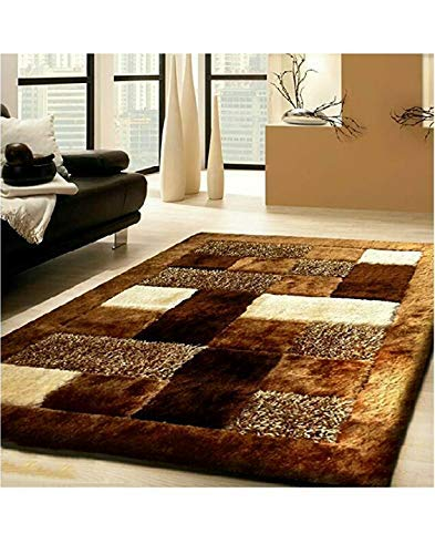 Selective Premium Shaggy Living Room Carpet (5 x 7 Feet)