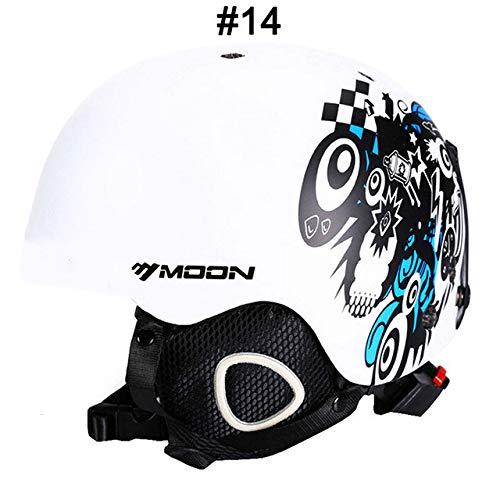 IAMZHL Skihelm Integrierter geformter Skihelm für Erwachsene und Kinder Schneehelm Skateboard Ski Snowboard Helm-a11-S (52-55cm)