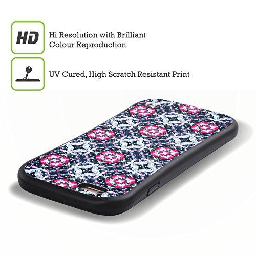 Ufficiale WondrousCre8tions Margherita Porpora Collezione Floreale Geometrica Case Ibrida per Apple iPhone 7 Plus / 8 Plus Boccioli Vivaci