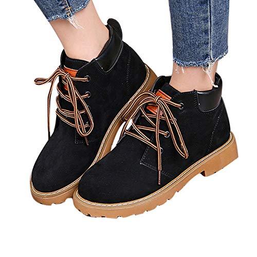 TianWlio Damen Stiefel Stiefeletten Mode Motorradstiefel Frauen Stiefel Ankle Boots Platz Ferse Martin Stiefel Schuhe