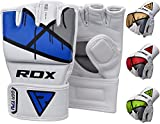 RDX MMA Kunstleder Handschuhe UFC Kamfsport sandsackhandschuhe Sparring Grappling Trainingshandschuhe Blau, Gr. L
