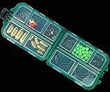 83PCS Fishing Accessories kit for Texas Rig, tra cui Bullet Sinker, ganci, cucchiaio, portiere, moschettoni, Split Ring, perline, set di attrezzatura da pesca con scatola a scomparti per rock pesca in mare