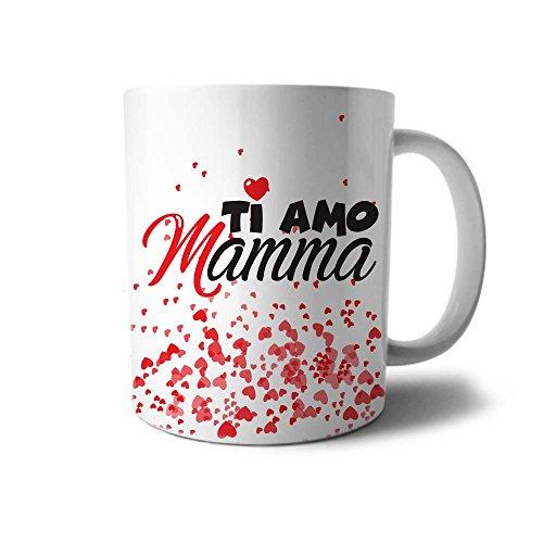 Babloo tazza idea regalo festa della mamma ti amo mamma con cuori