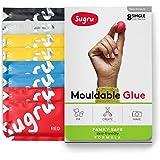 Sugru I000448Moulable Colle–Internet   pour la peau Formule–Couleurs classiques (8-Pack), Rouge, Jaune, Bleu, Noir et Blanc