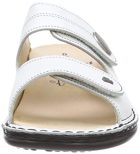 Finn Comfort Sansibar, Mules femme Blanc - Blanc