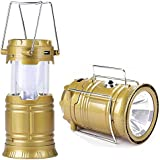 Senbei XF 5800T 6 + 1 LED Solar Emergency Light Lantern, USB Mobile Charging 2 Power Source Solar, Lithium Battery (Color Will Be As Per Stock)