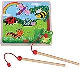 Lelin Children Kids Infants Wooden Magnetic Bug Number Jigsaw Puzzle Toy