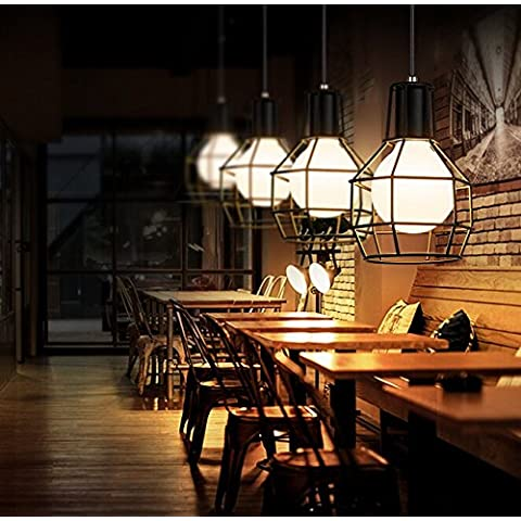 Stile industriale Loft da soffitto pendente Light Fixture-Lampada a sospensione,