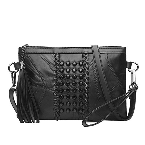 Frauen Nieten Umhängetasche Diagonal Paket Mode-Handtasche C