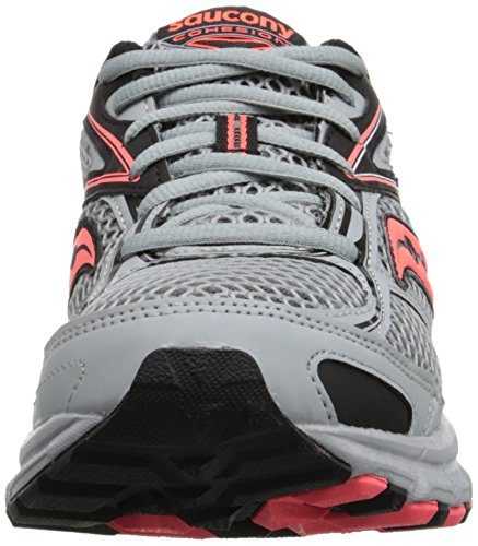 Saucony Women's Cohesion TR8 Trail Running Shoe, Grey/Black/Coral, 5 M US Grey/Black/Coral