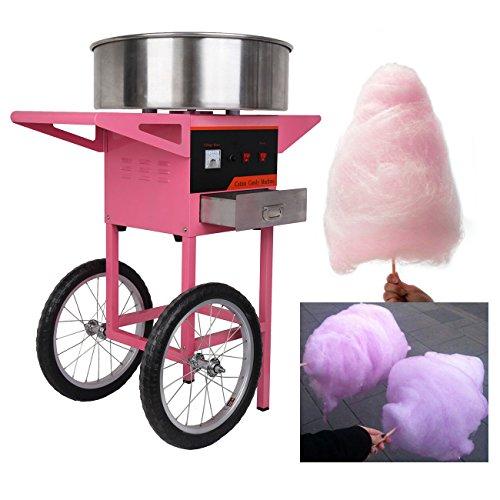 Ridgeyard 1030W 2 Wheels Commercial Use Cotton Candy Fairy Floss Hersteller Maschine Warenkorb Home Geburtstags Party Kitchen DIY Snack