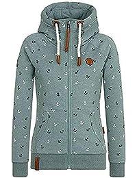 EwigYou Damen Kapuzenjacke Hoodie mit Fleece-Innenseite Sweatshirt Herbst Winter Fleecejacke Große Größen Übergangsjacke Sweatjacke
