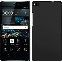 PhoneNatic Case für Huawei P8 Hülle schwarz gummiert Hard-case für P8 + 2 Schutzfolien