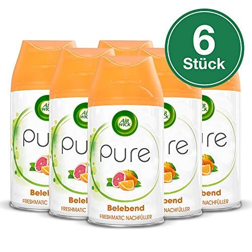 6 Stück-schlafzimmer-paket (Air Wick Freshmatic Max Nachfüller PURE Belebend, Orange & Grapefruit, 3 x Duo-Pack, 6 Stück)