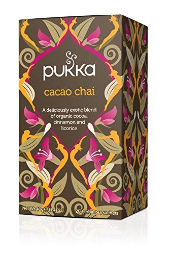 Pukka Bio-Tee Cacao Chai, 80 Teebeutel, 4er Pack (4 x 20 Stück)