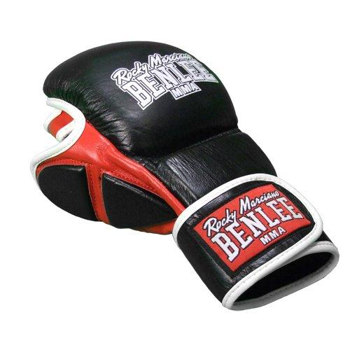 BENLEE Rocky Marciano Boxhandschuhe MMA Sparring Gloves Striker, Schwarz, S/M, 190038