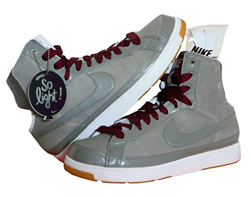 Nike Air Sneaker HI Troupe Mid Damen Dance Turn Lauf Sport Echtleder Grau (39, Grau) (Nike High Heels Sneakers)