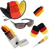 Taffstyle® Fan Set Fanartikel Deutschland Fussball WM Weltmeisterschaft 2014 & EM Länder Flaggen Style - 5-teiliges Männer
