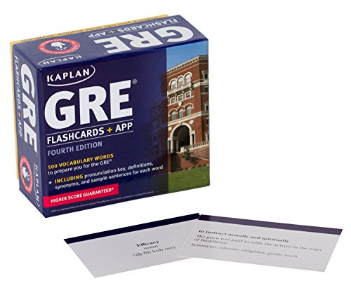 GRE Vocabulary Flashcards + App (Kaplan Test Prep) - Ds Flashcard