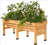 Hochbeet aus Holz als Pflanztrog, für kleinere Gärten und Balkone, L/B/H: 180/76/80 cm. Fi_47047