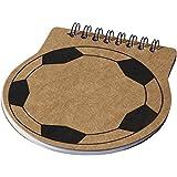 Bullet - Score - Block notes a forma di pallone da calcio (0,5 x 12 cm) (Naturale)