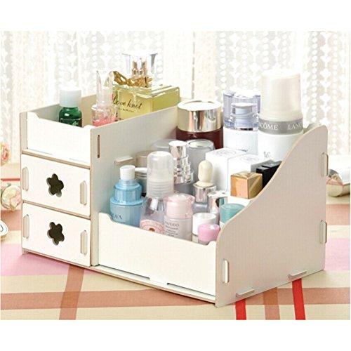 Pixnor Cosmetici Organizzatore Porta cosmetici trucco cosmetici Gioielli Conservazione Scatola Caso Rack Organizzatore