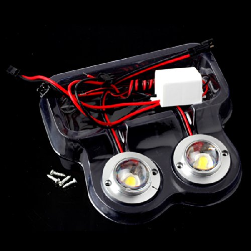 Preisvergleich Produktbild Car Truck 2 LED Round Strobe Flash Emergency Driving White 12V 5W Light