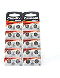 20 CAMELION AG13 A76 LR44 357 L1154 Button Cell Watch Battery With Long Shelf Life (Expire Date Marked) by Camelion