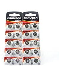 20 Camelion LR44 / A76 / AG13 pile bouton, longue durée de conservation (date d'expiration marque)