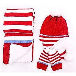Berretto Con Pompon In Maglia Per Bambini Set Di Sciarpe E Guanti Per  Cappello Cappello Invernali 7b3b57f8fefb