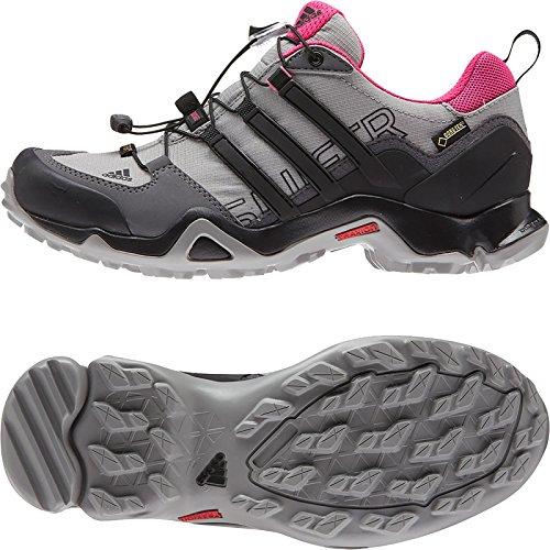 Adidas Outdoor-Terrex Swift R Gtx Wanderschuh - Schwarz / Explosion Lila 5 Granite/Black/Solid Grey