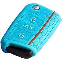 """'* Octavia 3Skoda """"Color Azul Claro RS Key Cover · Llave Carcasa Mando a distancia · Llave funda para llaves"""