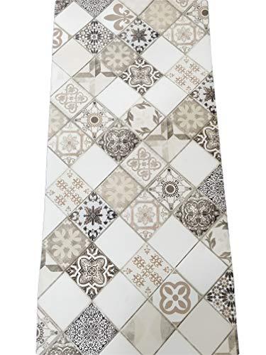 LaVelaHOME - Alfombra de Cocina por Metro, de PVC, 50 cm de Ancho, diseño de mármol, Color Gris