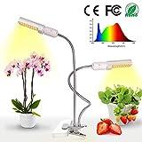 Relassy 45W LED Pflanzenlampe Vollesspektrum 88 Leds Pflanzenlicht mit Dualem Austauschbarem E27 Glühbirnen und...