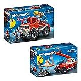 PLAYMOBIL 9465-66 Feuerwehr Set 5 - 2er Set 9465 + 9466