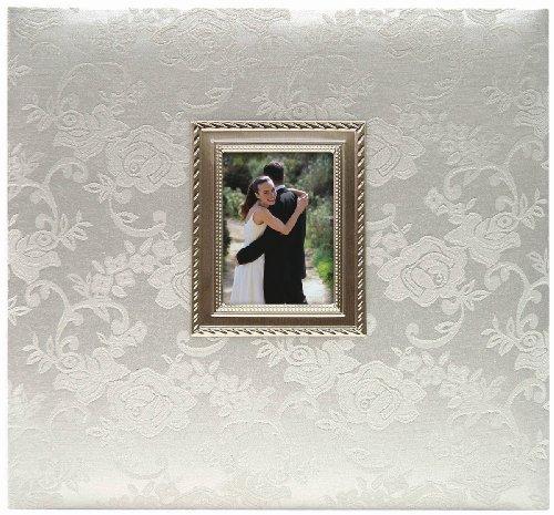 MBI 12x 12Zoll Floral Stoff Post Bound Album Hochzeit