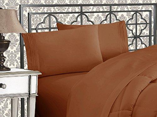 Bett-set Queen-bronze (Eleganten Komfort 4-teilig 1500Fadenzahl Ägyptische Qualität Bett-Sets mit tiefen Taschen, California King, Bronze)