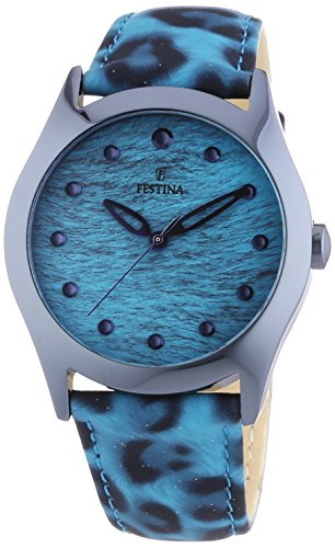 Festina Women's Quartz Watch with Black Dial Analogue Display Quartz Leather F16649/3