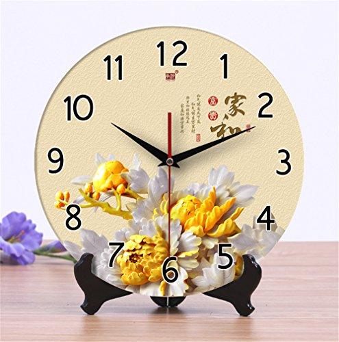 Gyps Home Wohnzimmer Schlafzimmer Büro Cafe Bar Decor Retro Wanduhr Original Vintage Rustikale Wanduhr Wanduhr Keramik Kreative Wecker die Uhr Zeichnung Chinesische stummgeschalte